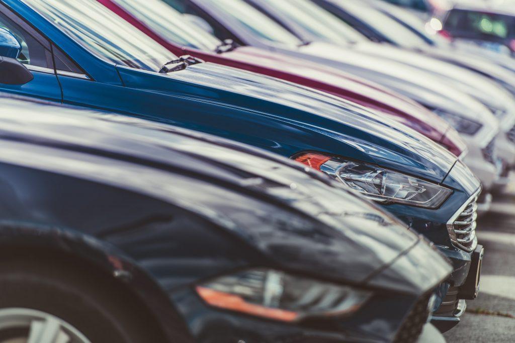 Row of New Cars